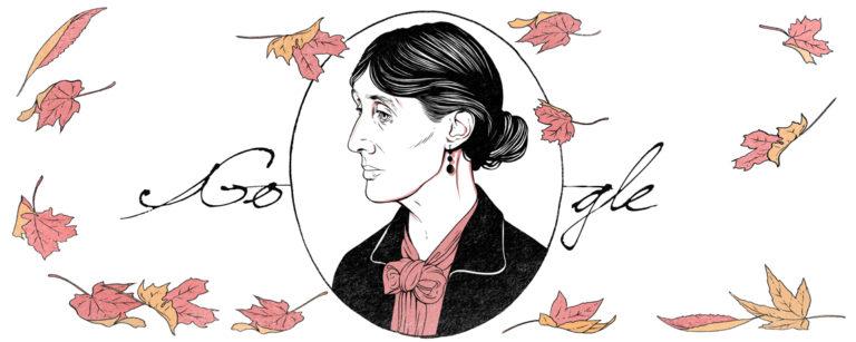 Doodle Virginia Woolf (et en savoir plus en espagnol)